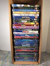 HUGE lot of Disney DVDs Cinderella Monster,Inc Heidi Tangled Up Muppet Nemo