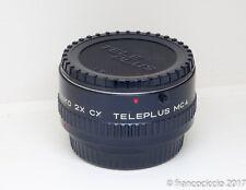 Kenko 2x CX teleplus MC4 duplicatore focale Contax Yashica C/Y tele converter