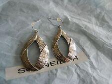 Premier Designs FLOURISH silver teardrop earrings RV $22 FREE ship new