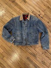 Polo Ralph Lauren OG Vintage L Denim Jacket Flannel Lined FREE SHIPPING