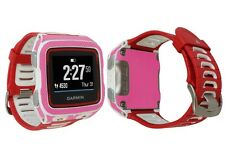 Skinomi Pink Carbon Fiber Skin+Screen Protector for Garmin Forerunner 920XT