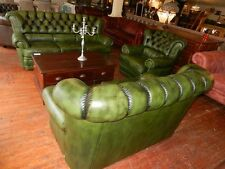 Chesterfield Sofagarnituren aus Leder fürs Wohnzimmer