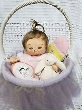 Jan Shackelford Ooak Easter Baby All Original with toys and basket!
