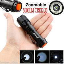 Super Bright Zoom 5000LM CREE Q5 AA/14500 3 Modes LED Taschenlampe Fackel Light