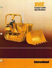 International Vintage 100E Crawler Loader Specifications Brochure 1978