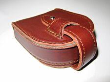 Saddleback Leather COIN PURSE Chestnut with Smooth Black Pigskin Script Logo