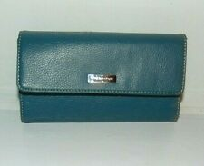Nine and Company Billfold Ladies Blue Faux Leather