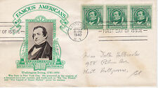 POSTAL HISTORY - CROSBY CACHET 1940 FAMOUS AMERICANS WASHINGTON IRVING AUTHOR