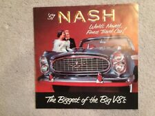 Original 1957 Nash Ambassador Sales Brochure...near mint condition!
