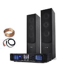 SET HIFI AMPLI ENCEINTES COLONNES BASSREFLEX 16cm HOME CINEMA USB SD 180W RMS