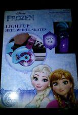 New Disney Frozen Light Up Heel Wheel Skates Roller Kids