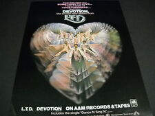 L.T.D. LTD Love..Togetherness..Devotion original 1979 Soul Promo Poster Ad mint