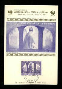 Postal History Vatican City FDC #433//438 LOT OF 3 Poland Polish Christmas 1966