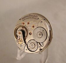 RAILROAD RUNNING MOVEMENT WALTHAM A.T. & CO 17 JEWELS OPEN FACE 18s POCKET WATCH