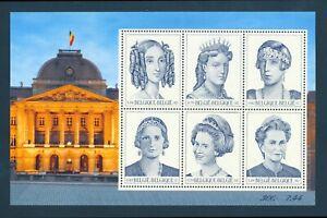 BELGIUM 2001 MINT NH SOUVENIR SHEET #1842, ROYALTY !!  M3-07