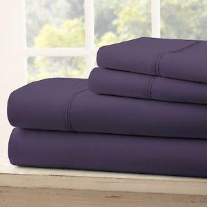 Egyptian Comfort 4 Piece Deep Pocket Bed Sheet Set - Hypoallergenic Wrinkle Free
