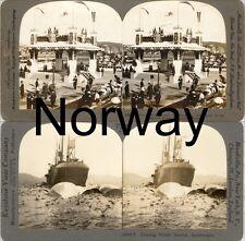18 Stereoviews Norway Norwegen Oslo  Lot 2