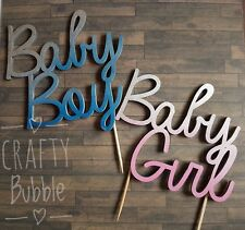 Baby boy/girl laser cut cake topper baby shower