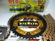 ZX10R NINJA '04-05 SUPERSPROX GOLD DID 530 QUICK ACCEL CHAIN AND SPROCKETS KIT