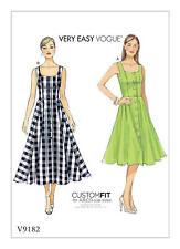 Vogue V9182 Very Easy PATTERN - Misses Dress-Size 6-22 BN