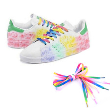 FLAT RAINBOW PINK SHOE LACES approx 100cm - 411 NOV