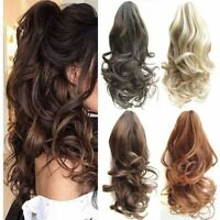 1/2Pcs Ponytail Clip in Hair Extensions Claw On Pony Tail Real for Human Gift zz