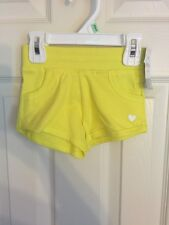 NWT - Infant Girls Carter's Playwear Yellow Shorts, Size 18 Months