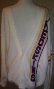 Redskins Vtg Button Sweater 1980s Cliff Engle NFL Memorabilia Washington Xl