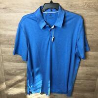 Adidas Mens Size XL Blue Ultimate365 2.0 Heather Polo Shirt NWT