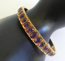 Spitzer & Furman Amethyst 18k Etched Yellow Gold Vintage Bracelet