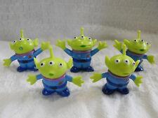 "Disney Parks Pixar Toy Story Little Green Men Aliens 1.75"" Toy Figure Lot of 5"
