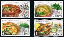 Moldova 2014 Traditional Food and Culinary Herbs 4 MNH stamps