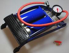 Pumpe Doppelzylinder Fußpumpe Reifen Luftpumpe KFZ Fahrrad Reifen Fahrradreifen