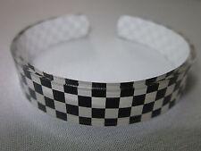 SKA Checkered 2tone Design Bangle Bracelet Wristband Free Size Unisex