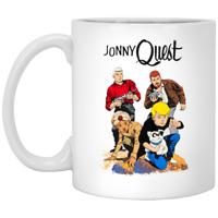 Jonny Quest Adventures Fiction Race Bannon Retro 60s Cartoon Coffee Mug Tea Cup