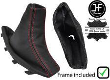 RED STITCH REAL LEATHER HANDBRAKE GAITER + PLASTIC FRAME FOR BMW X3 E83 03-10