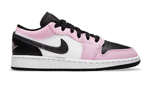 2020 Jordan 1 Low Light Arctic Pink 554723-601 Grade School Sizes 6