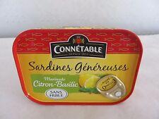 Connetable Sardinen Zitrone-Basilikum-Marinade ohne Öl, Füllmenge 140g/ATG 98g