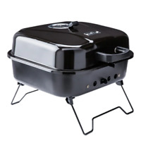 Mr. Bar-B-Q Portable charcoal grill 206-sq in Black/Porcelain Coated Portable