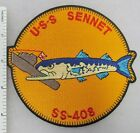 US NAVY USS SENNET SS-408 SUBMARINE PATCH (Orange) Made for Veterans After WW2