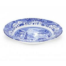 Spode Blue Italian Set of 8 Rim Soup Bowls