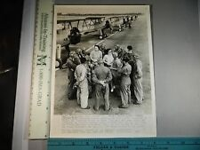 Rare Historical Original VTG 1943 French Fliers Learn Thru Translators WW2 Photo
