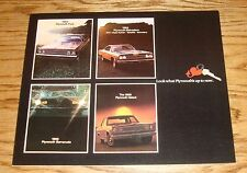 Original 1969 Plymouth Full Line Sales Brochure 69 Barracuda Fury GTX