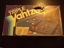 Triple Yahtzee Dice Game Milton Bradley 1982