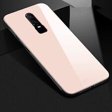Phone Case For OnePlus 6 Luxury Hybrid Tempered Glass Back Cover Shockproof Hard
