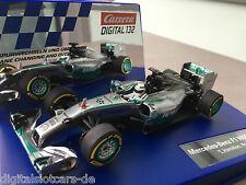 """Carrera Digital 132 30733 MERCEDES BENZ f1 w05 Hybrid """"L. Hamilton, N. 44"""" NUOVO"""