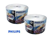 100 PHILIPS 16X DVD-R DVDR Blank Disc 4.7GB 120Min SP