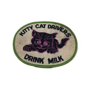 Vintage Arctic Cat Snowmobile Snowmobiling Patch RARE Kitty Drivers Drink Milk