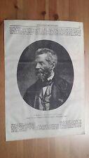 1873 Illustrazione Popolare: Tommaso Aloysio Juvarra Messina Incisore Italiano