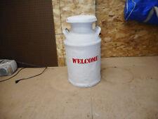 Vintage Midwestern 10 Gallon Metal Milk/Creamer Can w Lid -Great Decor
